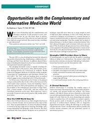 Opportunities with the Complementary and ... - Matthew J. Taylor