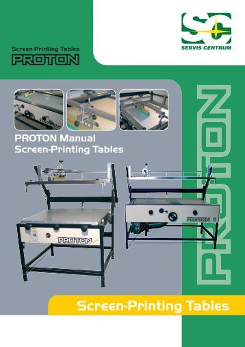 Screen-Printing Tables - SERVIS CENTRUM