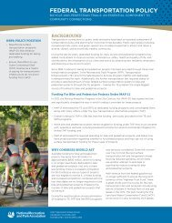 federal transportation policy - National Recreation and Park ...