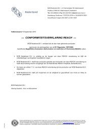 CONFORMITEITSVERKLARING REACH - MCB Nederland B.V.
