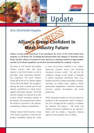 STOP PRESS - Alliance Group Limited