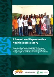 A Sexual and Reproductive Health Success Story Youth ... - SAfAIDS