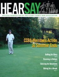 CCBA Members Active as Summer Ends - Clark County Bar ...