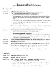 the complete conference schedule (PDF). - QNotes