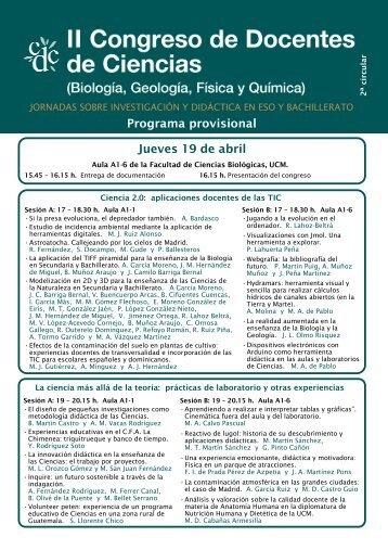 II Congreso de Docentes de Ciencias