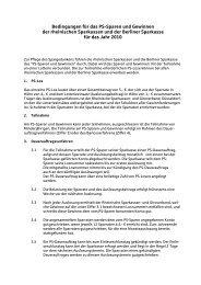 Bedingungen für das PS-Sparen und Gewinnen