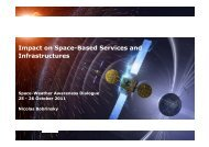 Impact on Space-Based Services and Infrastructures - IPSC