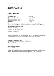 Multimedia BSC Solutions 2004 - Cardiff University