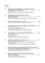 Inhalt - Lehrstuhl für Kunststofftechnik