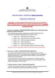 PERGUNTAS E RESPOSTAS - Sefa - Governo do Estado do Pará