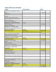 On-Line EMT Course Schedule (pdf)