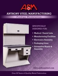 Prodigy Workstation - Anthony Steel Manufacturing