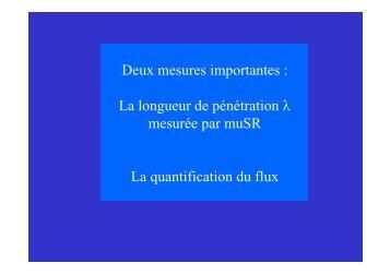 diapos cours 2 : longueur de penetration et quantification du flux