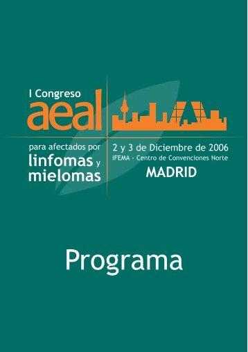 Programa I Congreso AEAL - Sociedad Española de Oncología ...