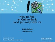 How to Rob an Online Bank (and get away with it) - Acros Security