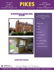 A three bedroom end of terraced house in Salisbury Village ... - Pikes