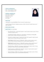 CONTACT INFORMATION Name: Maryam Karbasi motlagh Email ...