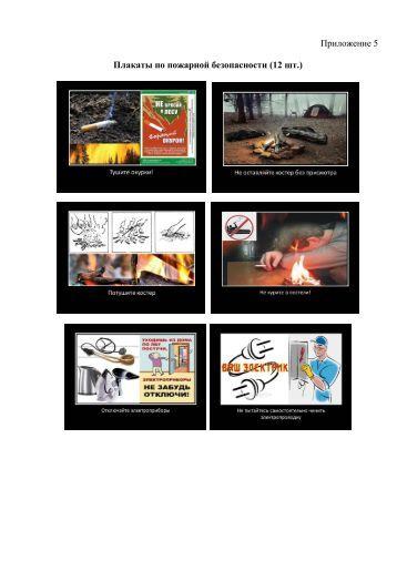 Приложение 5 Плакаты по пожарной безопасности (12 шт.)