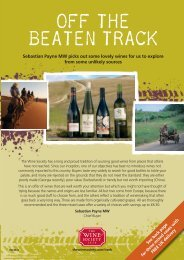 OFF THE BEATEN TRACK - The Wine Society
