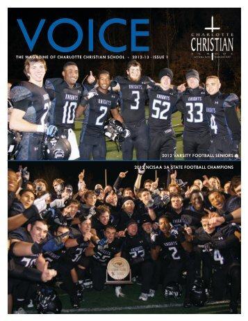 2012-13 Issue 1 - Charlotte Christian School