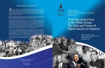 Sixth Annual Branton Lecture Brochure - Howard University School ...