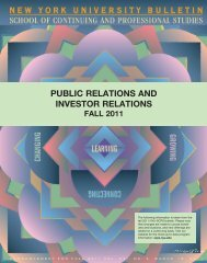 PUBLIC RELATIONS AND INVESTOR RELATIONS - School of ...
