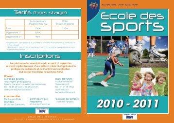 Plaquette des sports 2010/2011 - Suresnes