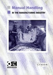 Manual Handling in the Manufacturing Industry - Business.govt.nz