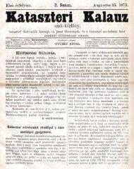 Kataszteri Kalauz, 1. évf. 3. sz. (1875. augusztus 15.) - EPA