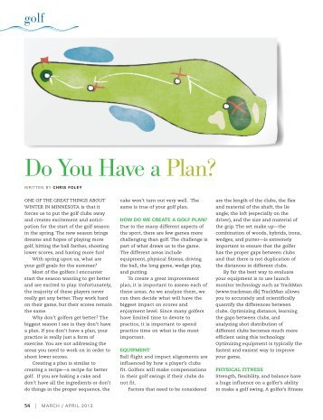 Golf   Do You Have A Plan? - Cragun's Resort on Gull Lake