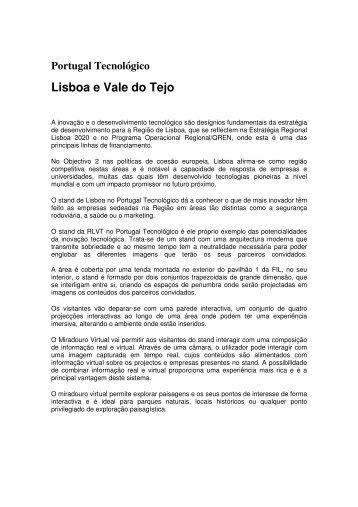 Portugal Tecnológico Lisboa e Vale do Tejo - CCDR-LVT