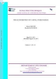 The Econometrics of Cartel Overcharges