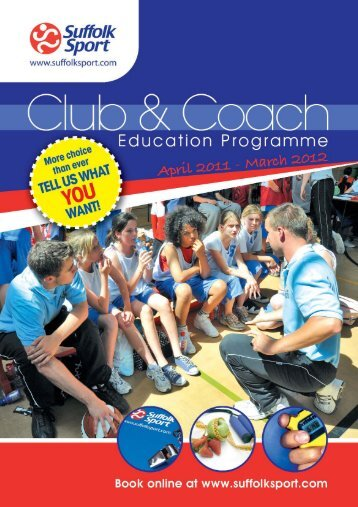 Club and Coach Programme 2011-2012 - Suffolk County Athletics ...