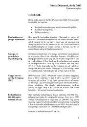 Dansk Økonomi, forår 2013, Resume - De Økonomiske Råd