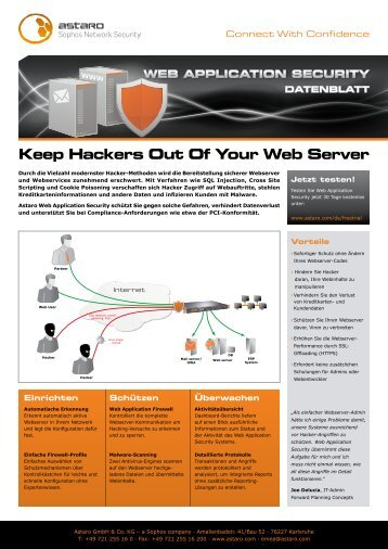 Astaro Web Application Security