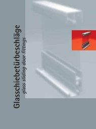 Glasschiebetürbeschläge – Auszug aus dem Junior Katalog - Pauli