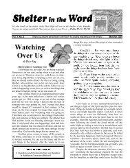 Mar/Apr 2000 - Servants' News