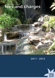 2011 - 2012 Fees and Charges - Warringah Council