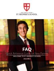 FAQ - St. George's School