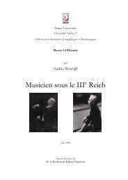 Musicien sous le IIIe Reich - Société Wilhelm Furtwängler