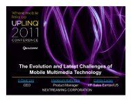 The Evolution and Latest Challenges of Mobile Multimedia ... - Uplinq