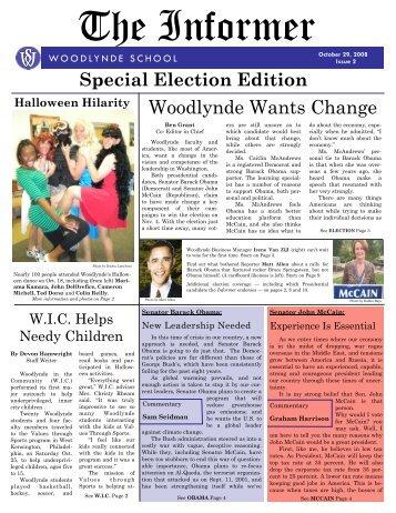 The Informer October 2008 - Woodlynde School
