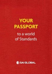 Your passport to a world of Standards - SAI Global