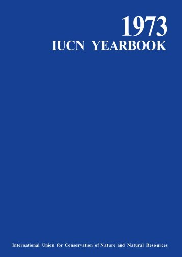 1973 iucn yearbook