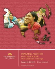 imagining another future for asia - Asian University for Women