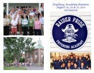 Fryeburg Academy Reunion August 19, 20 & 21, 2011 Invitation