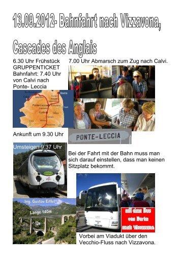 Bahnfahrt nach Vizzavona, Cascades des Angais