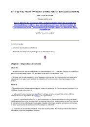 Loi n° 93-41 du 19 avril 1993 relative à l'Office National de l ... - REME