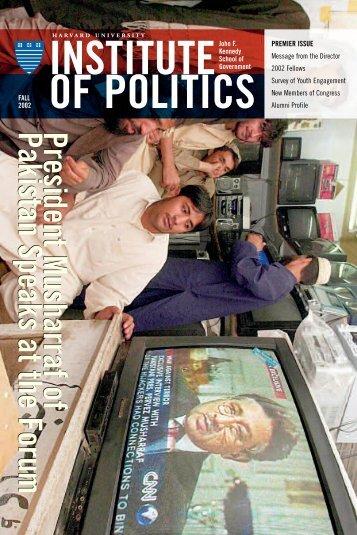 2002 Fall Newsletter - Harvard University Institute of Politics