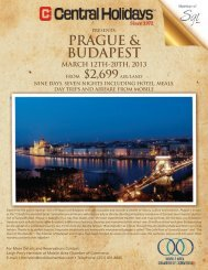 prague & budapest march 12th-20th, 2013 - Mobile Chamber of ...